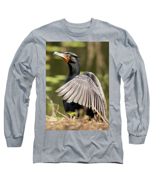 Cormorant Portrait Long Sleeve T-Shirt