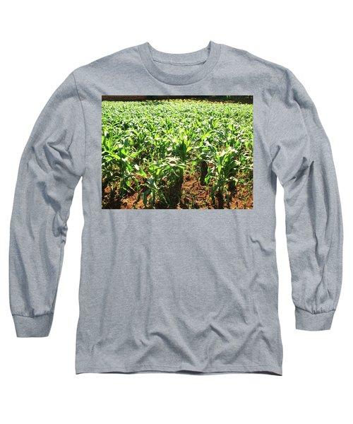 Long Sleeve T-Shirt featuring the photograph Corn Island by Beto Machado