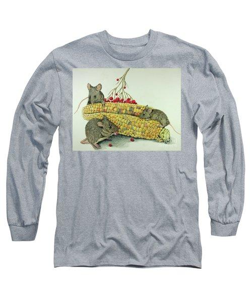Corn Meal Long Sleeve T-Shirt by Terri Mills