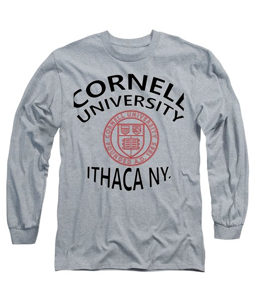 Long Sleeve T-Shirt featuring the digital art Cornell University Ithaca N Y by Movie Poster Prints
