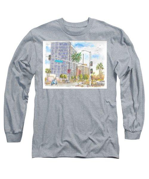 Corner Wilshire Blvd. And San Vicente Blvd, Los Angeles, Ca Long Sleeve T-Shirt