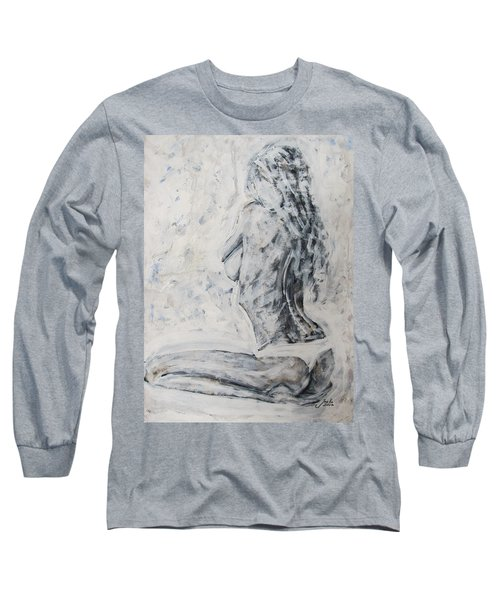 Long Sleeve T-Shirt featuring the painting Cosmic Love by Jarko Aka Lui Grande