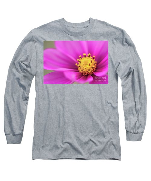 Long Sleeve T-Shirt featuring the photograph Cosmos Pink Sensation by Sharon Mau