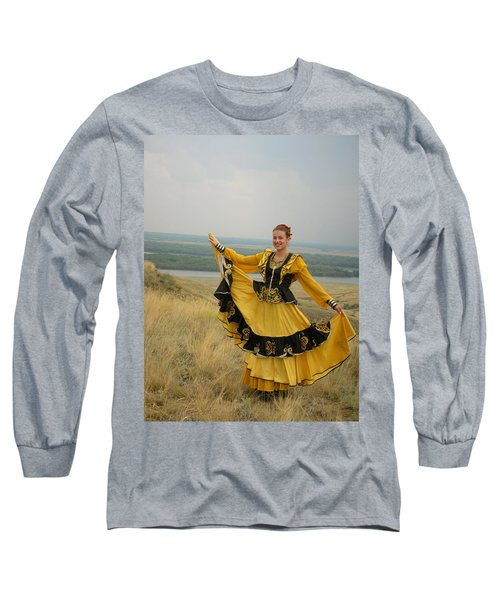 Cossack Young Woman Long Sleeve T-Shirt