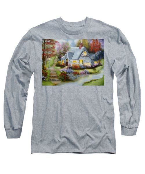Cottage In Fall Long Sleeve T-Shirt
