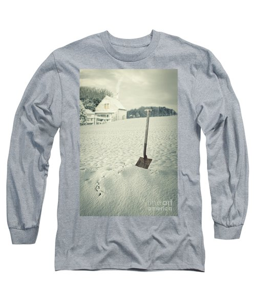 Cottage In Winter  Long Sleeve T-Shirt