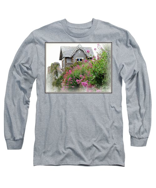 Cottage On The Hill Long Sleeve T-Shirt by Anne Gordon