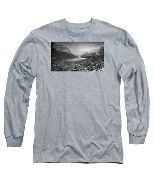 Long Sleeve T-Shirt featuring the photograph Cotton Candy Blankets Yosemite by Lora Lee Chapman