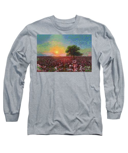 Cotton Field Sunset Long Sleeve T-Shirt