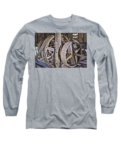 Cotton Gin Pulleys Long Sleeve T-Shirt