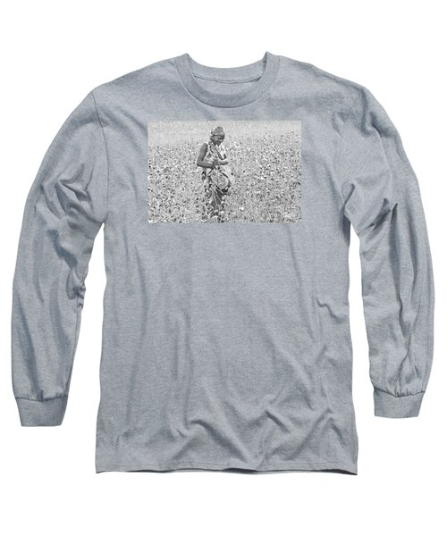 Long Sleeve T-Shirt featuring the photograph Cotton Picker by Pravine Chester