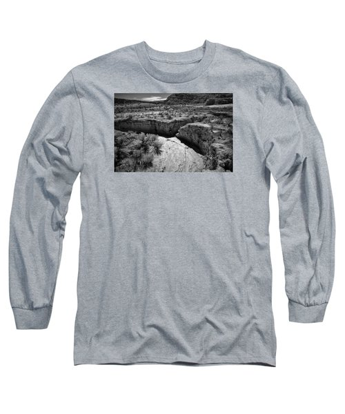 Cottonwood Creek Water Drainage 1 Bw Long Sleeve T-Shirt