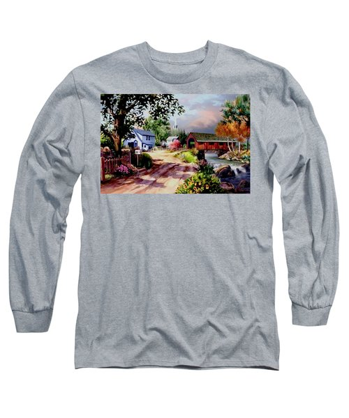 Country Covered Bridge Long Sleeve T-Shirt
