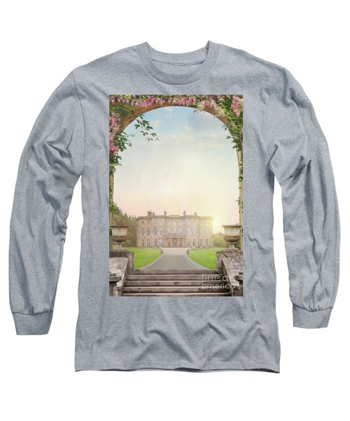 Country Mansion At Sunset Long Sleeve T-Shirt by Lee Avison