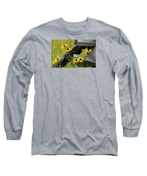 Country Roads Long Sleeve T-Shirt by Angela Davies