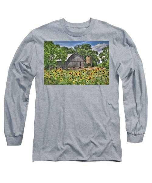 Country Sunflowers Long Sleeve T-Shirt by Lori Deiter