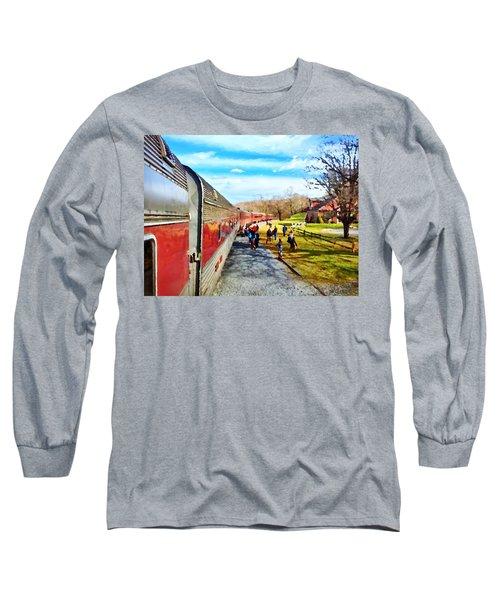 Country Train Depot Long Sleeve T-Shirt