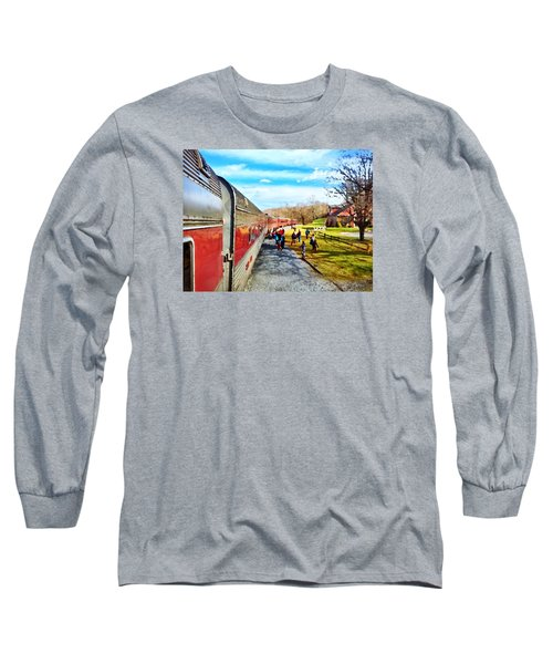 Country Train Depot Long Sleeve T-Shirt