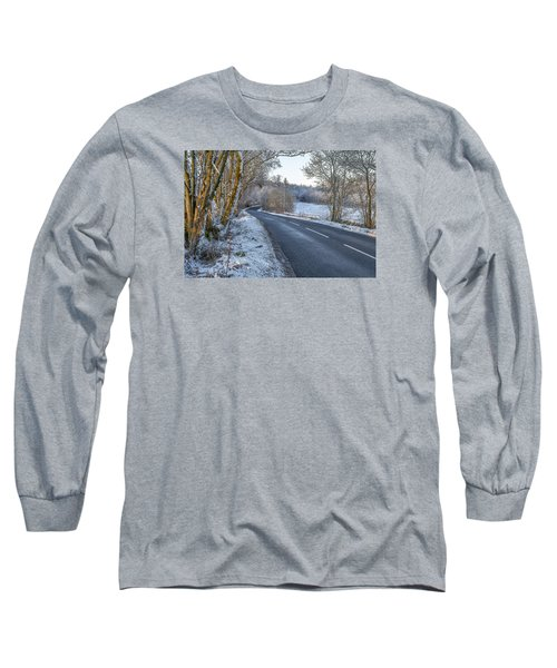 Countryside Road In Central Scotland Long Sleeve T-Shirt