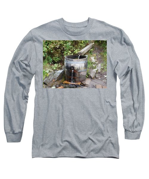Countryside Water Feature Long Sleeve T-Shirt by Catherine Gagne