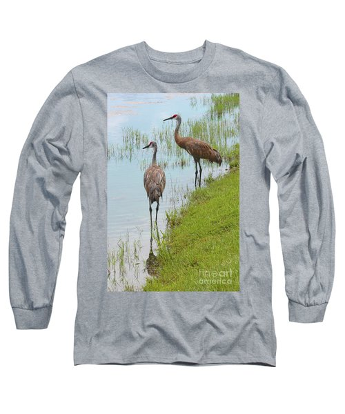 Couple Of Sandhills By Pond Long Sleeve T-Shirt