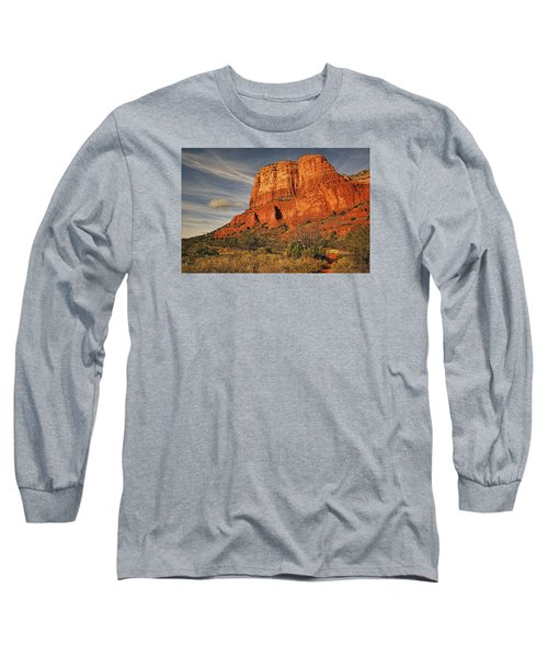 Courthouse Butte Txt Long Sleeve T-Shirt