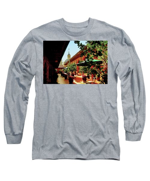Courtyard At The Inn Long Sleeve T-Shirt