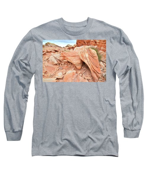Long Sleeve T-Shirt featuring the photograph Cove Of Sandstone Shapes In Valley Of Fire by Ray Mathis