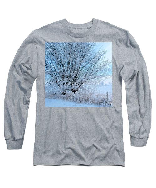 Covered In Ice Long Sleeve T-Shirt by Heather King