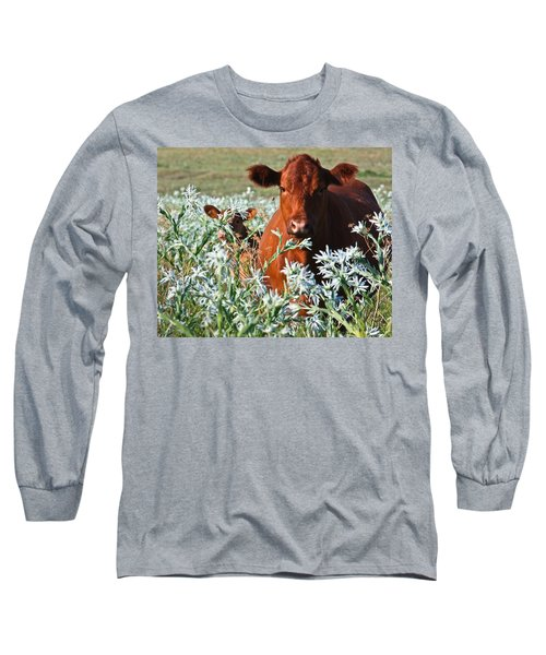 Cow Hide Long Sleeve T-Shirt by Mark Alder