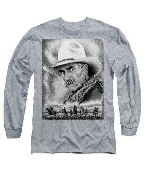 Cowboy Bw Long Sleeve T-Shirt