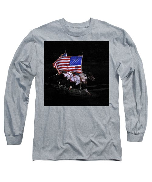 Cowboy Patriots Long Sleeve T-Shirt by Ron White