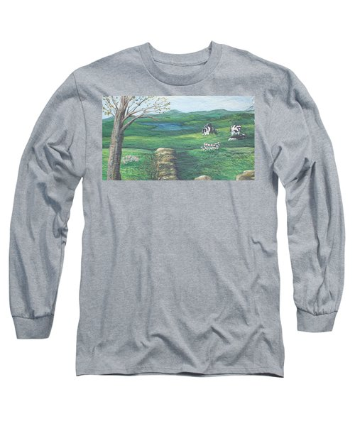 Cows In Field Long Sleeve T-Shirt