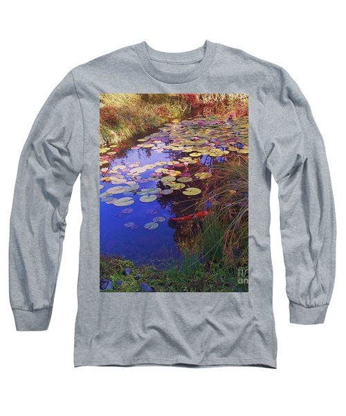 Long Sleeve T-Shirt featuring the photograph Coy Koi by Suzanne McKay