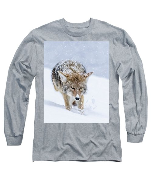 Coyote Coming Through Long Sleeve T-Shirt