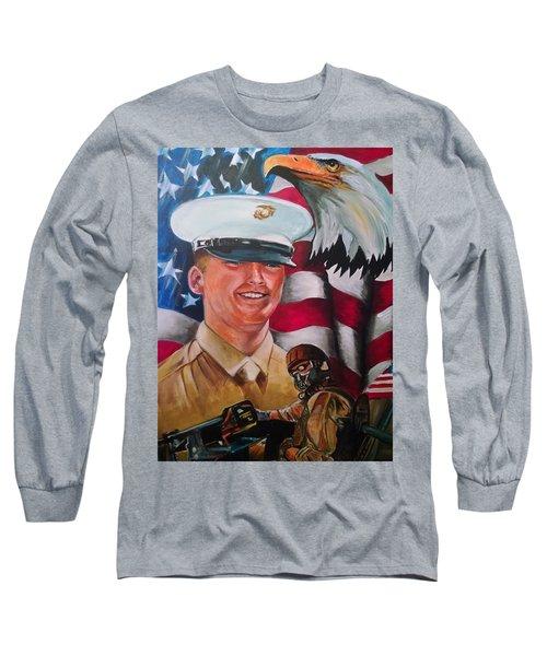 Cpl. Drown Long Sleeve T-Shirt by Ken Pridgeon