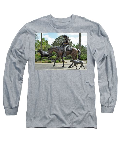 Cracker Cowboy And His Dog Long Sleeve T-Shirt
