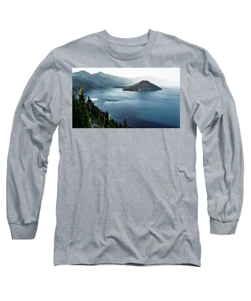 Crater Lake Under A Siege Long Sleeve T-Shirt by Eduard Moldoveanu