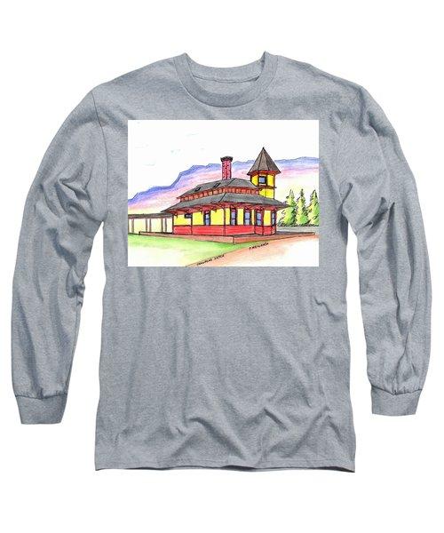Crawford Notch Train Station Long Sleeve T-Shirt by Paul Meinerth