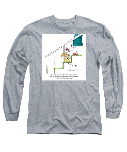 Crazy Cat Lady 0006 Long Sleeve T-Shirt by Lou Belcher