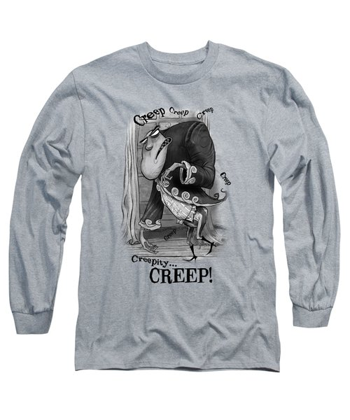 Creepy Long Sleeve T-Shirt by Andy Catling