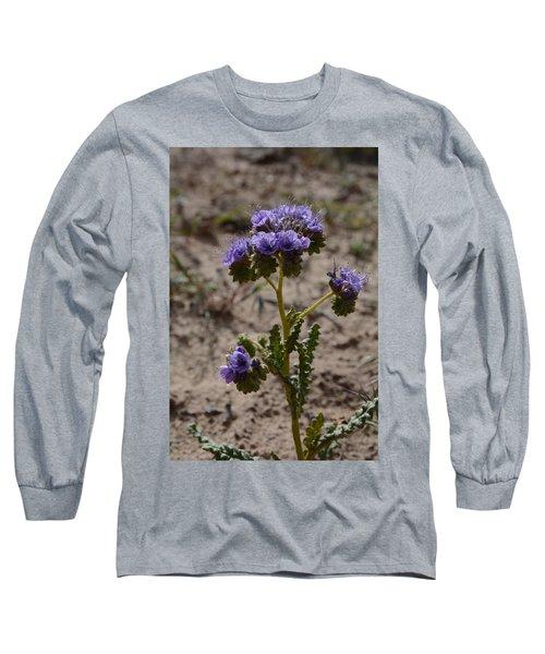 Crenulate Phacelia Flower Long Sleeve T-Shirt