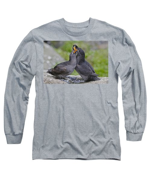 Crested Auklet Pair Long Sleeve T-Shirt