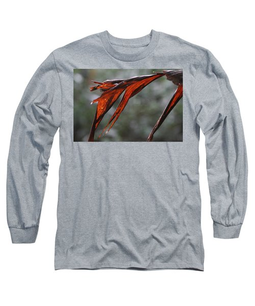 Crimson Leaf In The Amazon Rainforest Long Sleeve T-Shirt