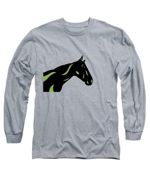 Crimson - Pop Art Horse - Black, Greenery, Purple Long Sleeve T-Shirt