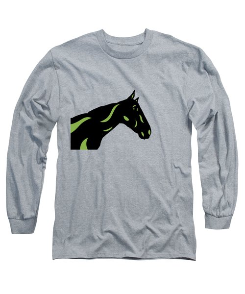 Crimson - Pop Art Horse - Black, Greenery, Purple Long Sleeve T-Shirt
