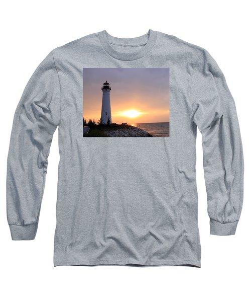 Crisp Point Lighthouse At Sunset Long Sleeve T-Shirt