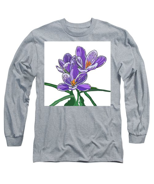 Crocus Long Sleeve T-Shirt by Jamie Downs