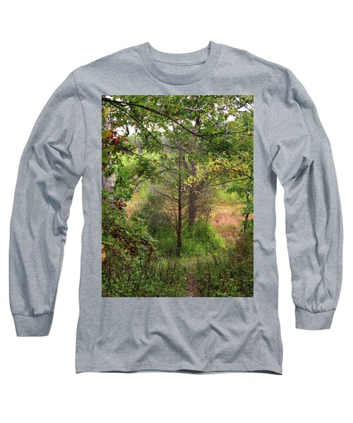 Long Sleeve T-Shirt featuring the photograph Crooked Creek Woods by Kimberly Mackowski