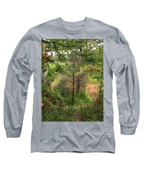Crooked Creek Woods Long Sleeve T-Shirt by Kimberly Mackowski
